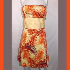 FREE PEOPLE Tropical Leave Mini Dress Size 10